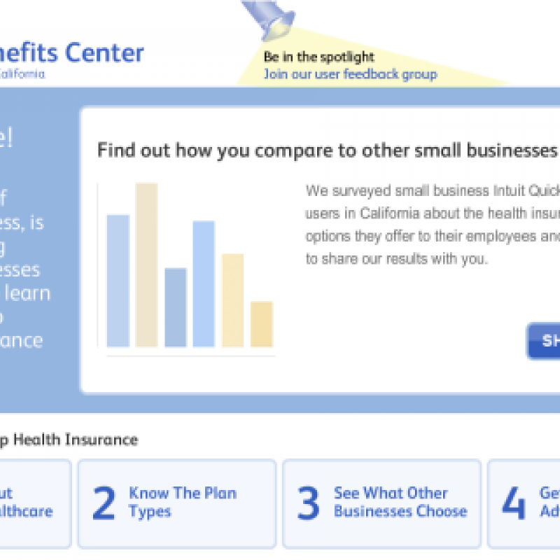 Launched: Intuit Health Benefits Center